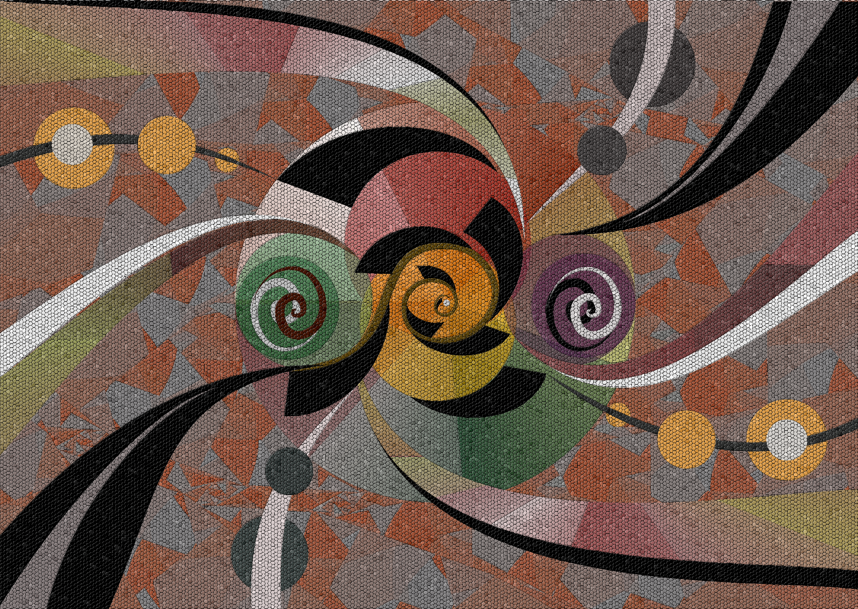 Mozaic full screen