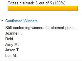 confirmed winners